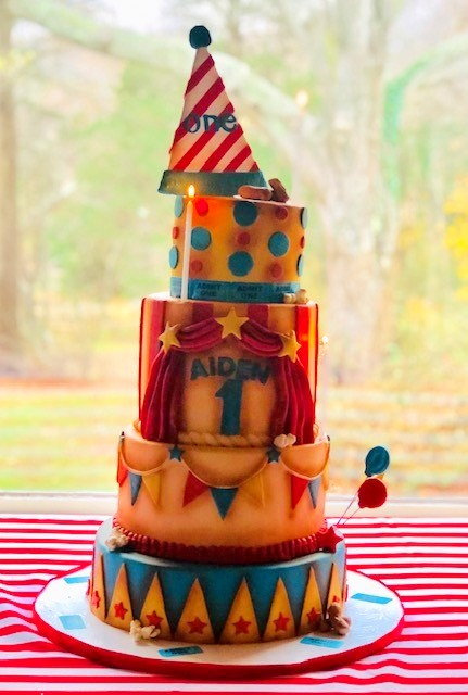 carnival cake, custom cake, cake art