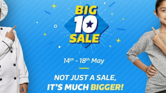 Best deals offered by Flipkart in Big 10 Sale 2017