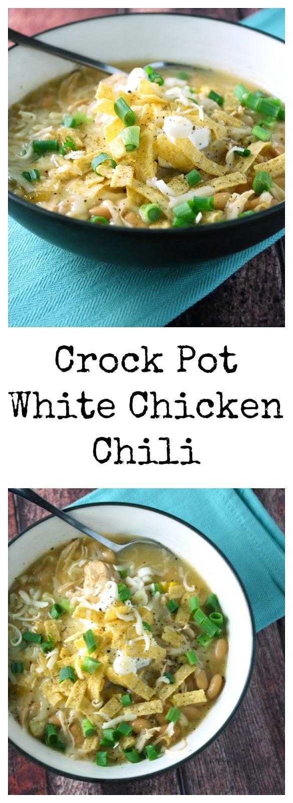 Easy Crock Pot White Chicken Chili