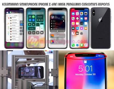 Kelemahan Smartphone iPhone X dari Hasil Pengujian Customers Reports