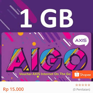 Voucher paket data axis aigo grosir