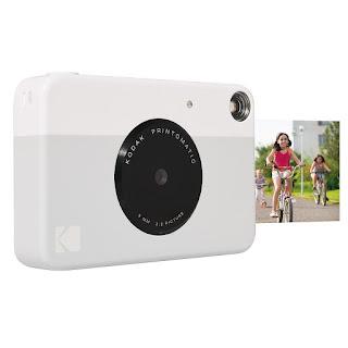 """Kodak Printomatic Instant Print Camera , Prints On ZINK 2x3"""" Sticky-Backed Paper - Grey"""