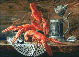 Lobsters and mug