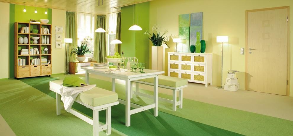 10 fotos de comedores color verde colores en casa for Comedor 2 colores