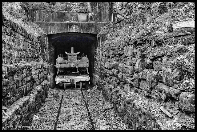 The eastern portal of the West Barretts Tunnel at the National Museum Of Transportation.