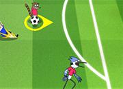 Rigby y Mordecai en copa toon 2016 juego
