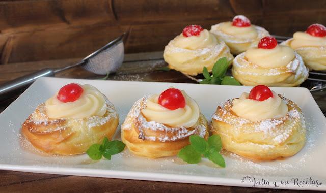 Zeppole di San Giuseppe o rosquillas de San José. Julia y sus recetas