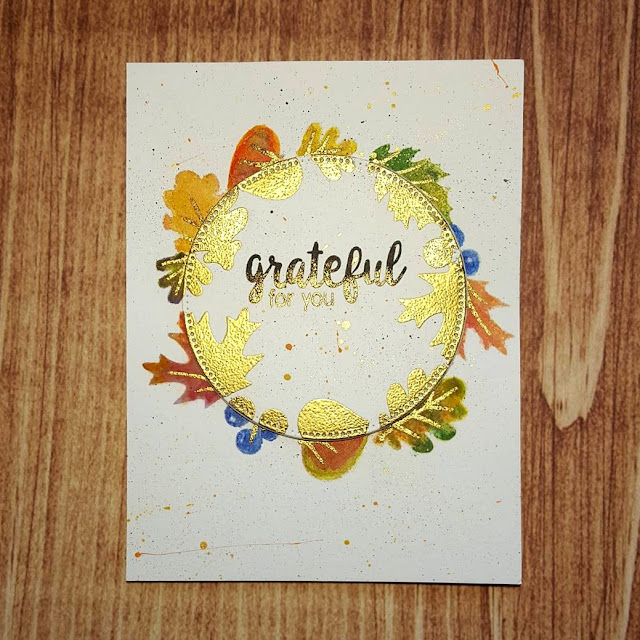 Sunny Studio Stamps: Autumn Splendor Card by Coni Longley (with photo tutorial)