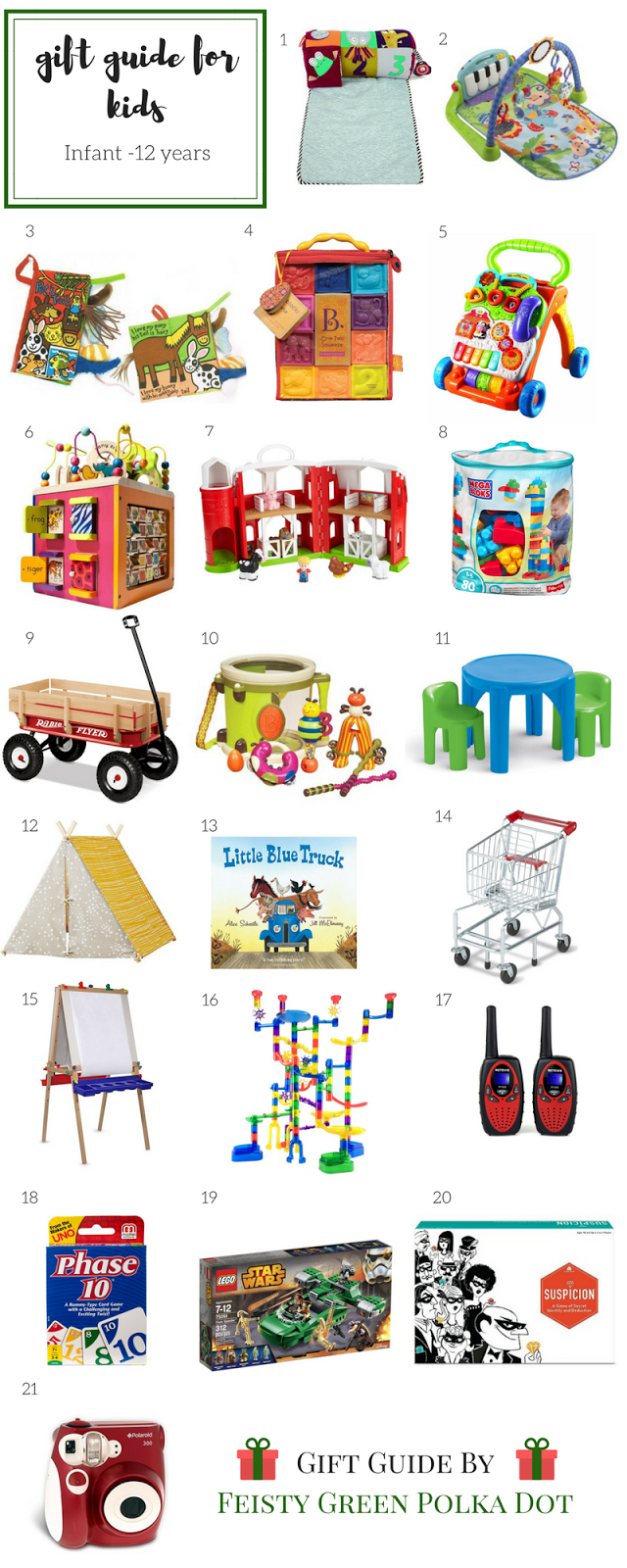 Gift Guide for Kids Infant Through 12 Years Old