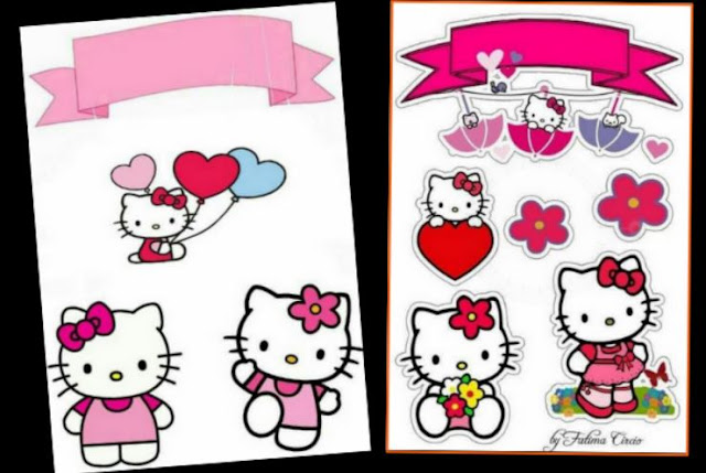 Hello Kitty Free Printable Cake Toppers.