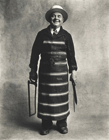 Butcher, London, 1950,  by  Irving Penn