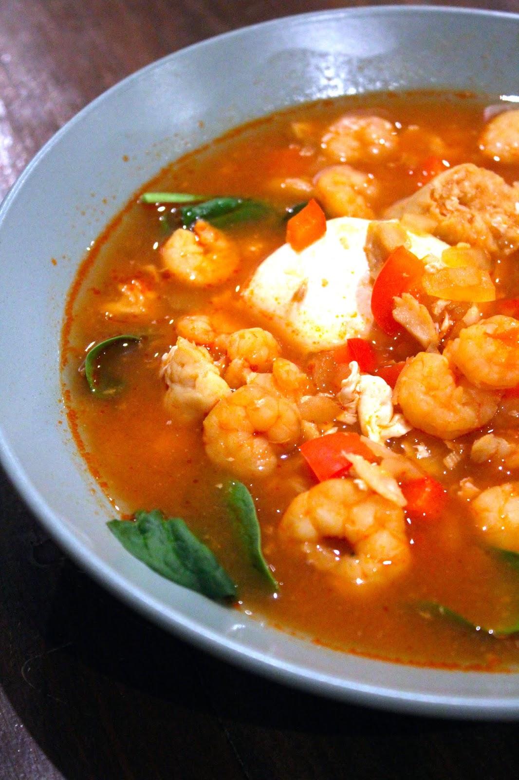 As Minhas Receitas Sopa De Peixe Com Camarao E Ovo Cozido