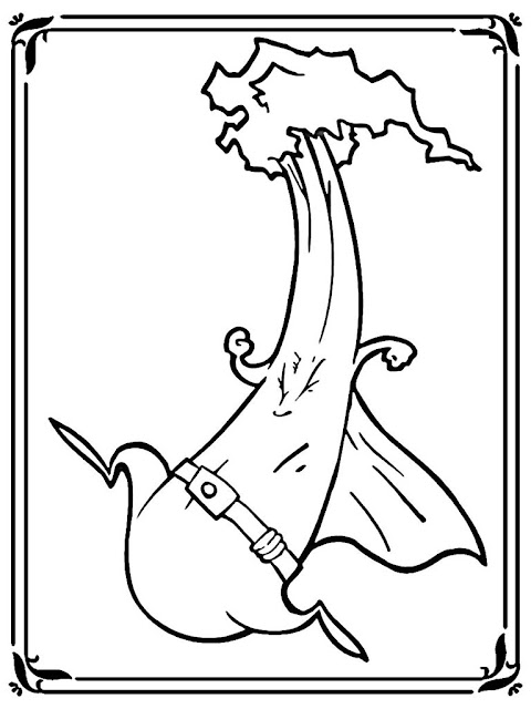 Free Printable Celery Coloring Pages