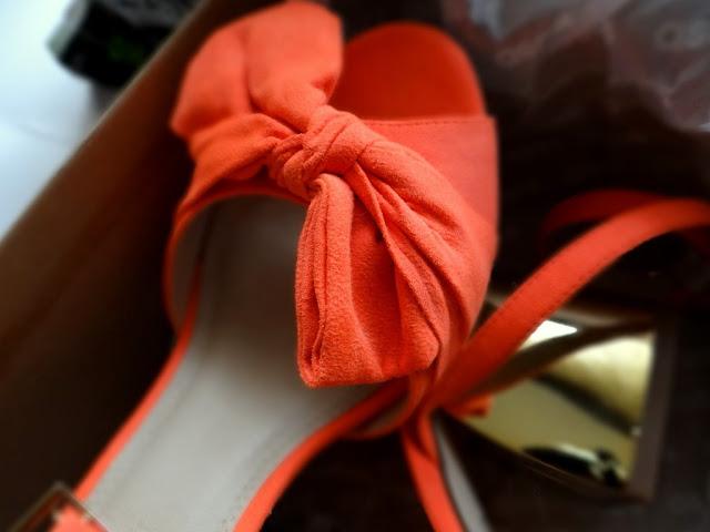asos oranj sandals