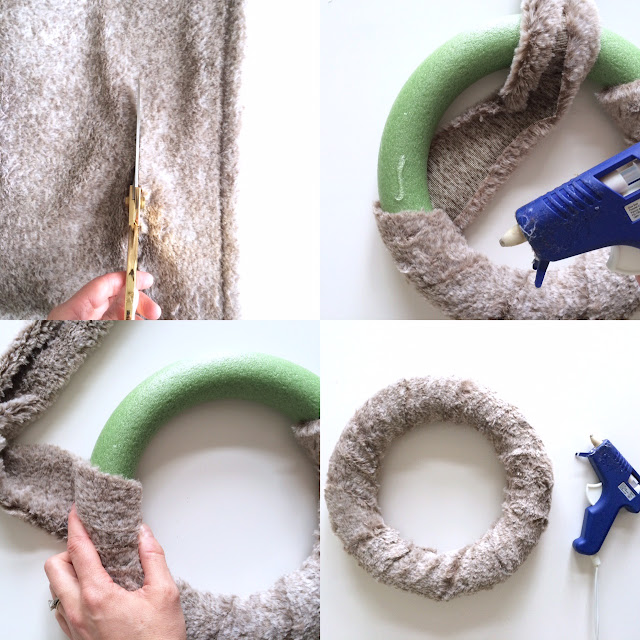 DIY Fur Christmas Wreath