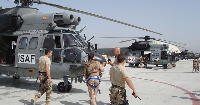 ISAF Helicopters, Image Attribute: NATO Website