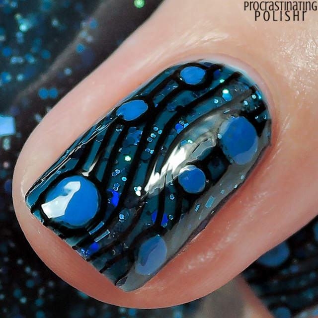 Wibbly wobbly tardis blue nail art the lacquer ring products used prinsesfo Choice Image