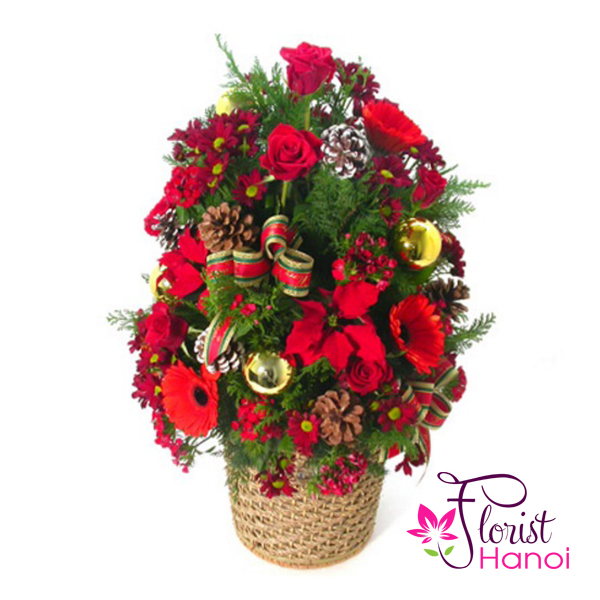 Beautiful christmas flowers delivered hanoi florist
