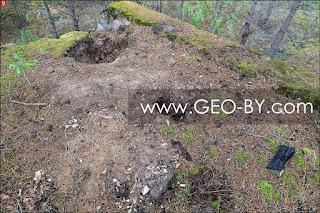 Рудня Налибокская. Следы работы черных копателей