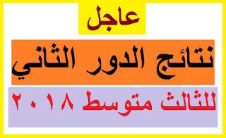 نتائج الصف الثالث المتوسط الخارجي لعام 2018 الدور الثاني في مدارس بغداد الكرخ والرصافة