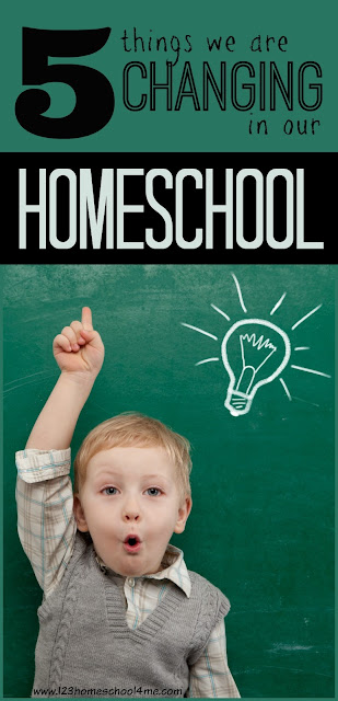5 things we are changing in our homeschool this year - great suggestions! We are going to have to try some of these homeschooling ideas to get organized