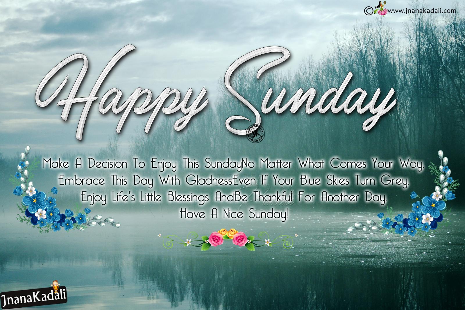 Happy Sunday Greetings In English Joyfull Happy Sunday Greetings In