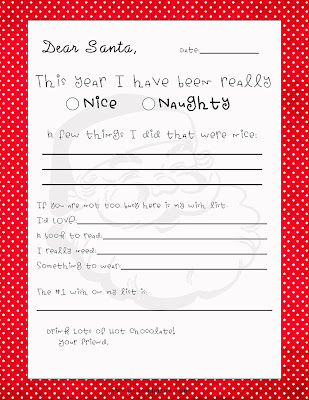 Letters to Santa Free Printable} The Crafted Sparrow