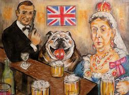 Queen Victoria and 007 at the Pub