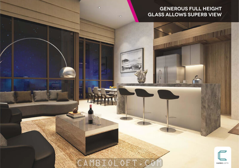 Contoh Design Interior Unit Apartemen Loft Cambio Lofts Alam Sutera