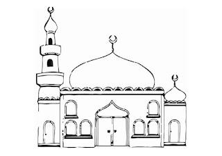 Gambar Sketsa Mewarnai Masjid Terbaru 201726