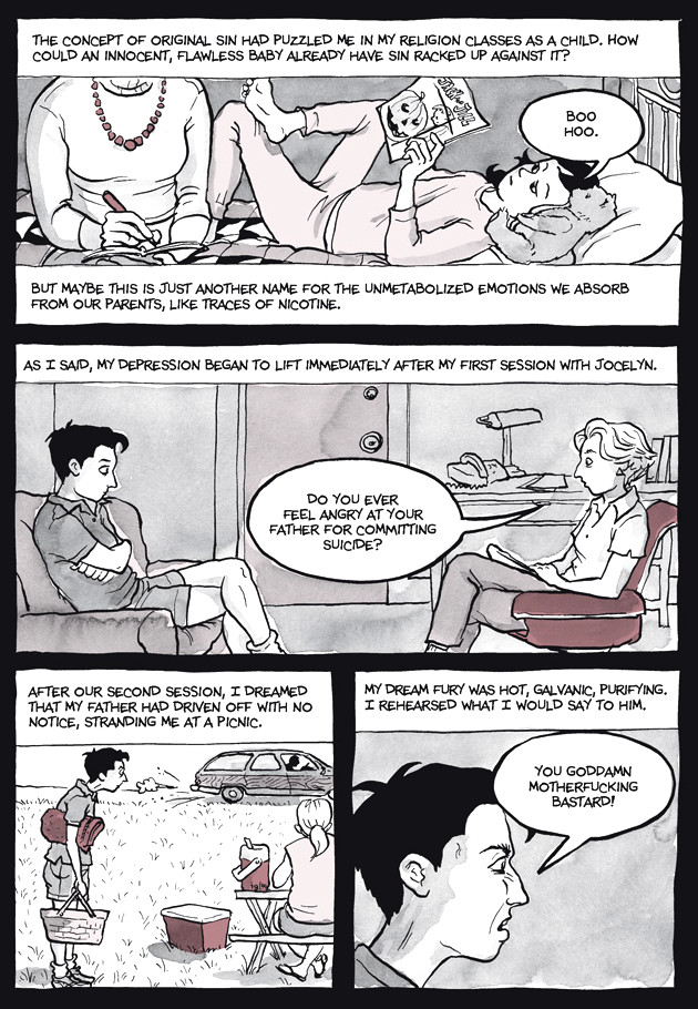 Page 35, Chapter 2: Transitional Objects from Alison Bechdel's graphic novel Are You My Mother
