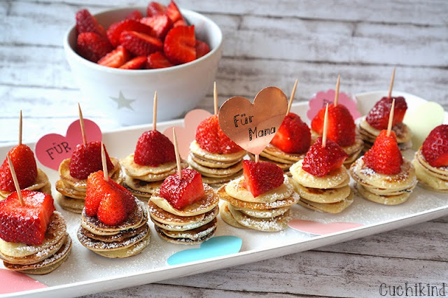 Pfannkuchen Erdbeeren