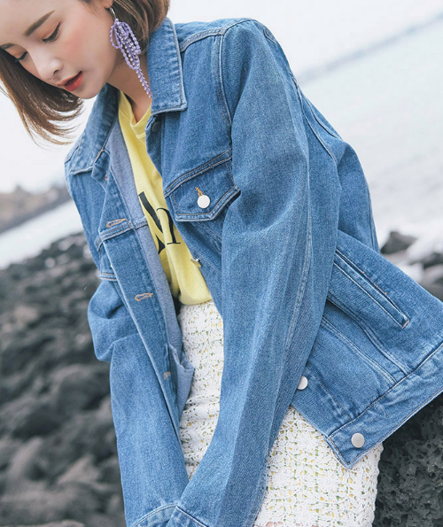 Extended Sleeve Denim Jacket