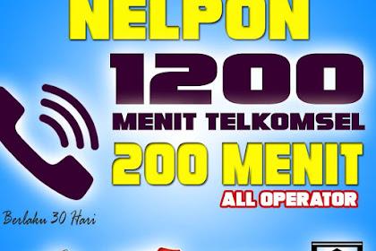 [1400 Menit] Paket Nelpon Telkomsel Ke Semua Operator 200 Menit