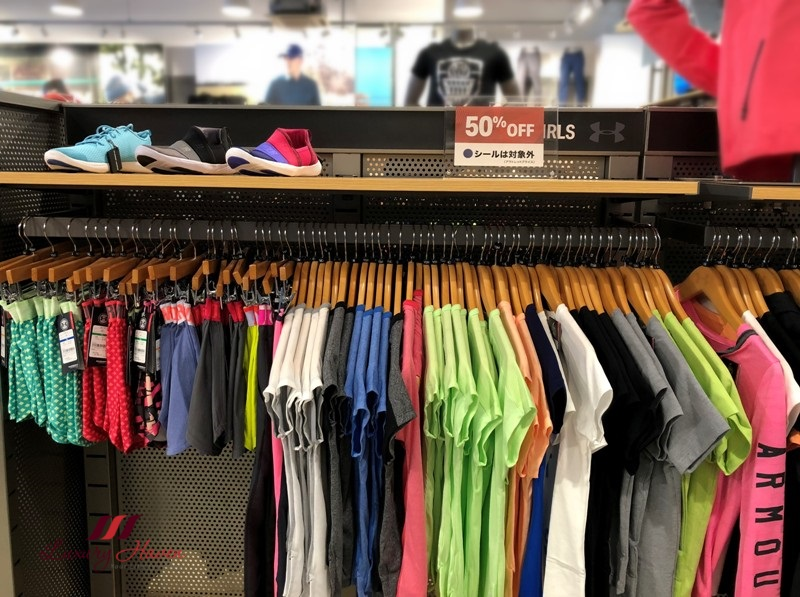 under armour sale rinku premium outlet shopping