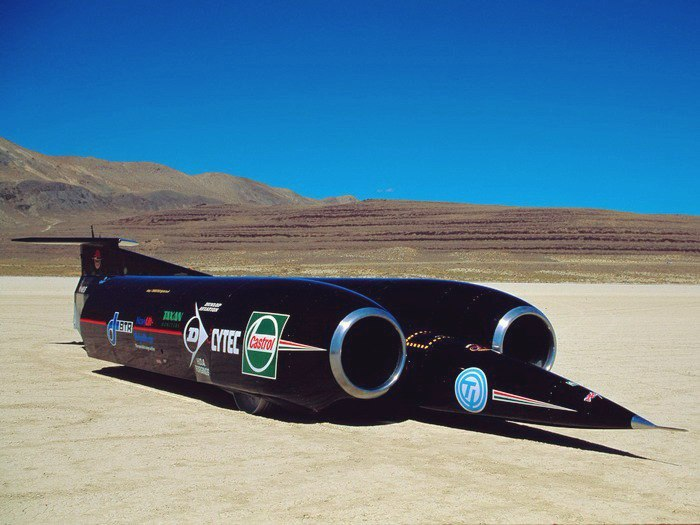 Thrust SSC - the first and only car to break the sound barrier.