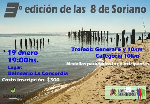 10k y 5k Balneario La Concordia (Dolores - Las 8 de Soriano, 19/ene/2019)
