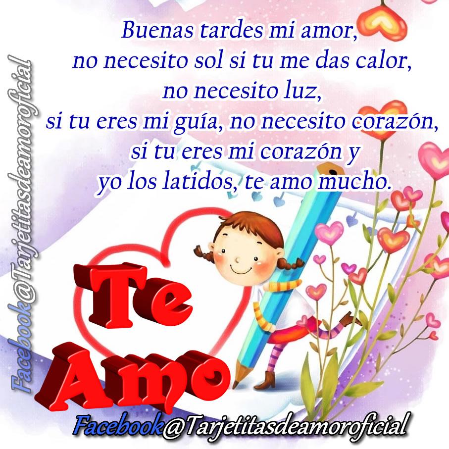 """Buenas tardes mi amor Dios te bendiga y te colme de muchas bendiciones ademas de tengas paz salud y esperanza """"TQM"""" mi Amor"""