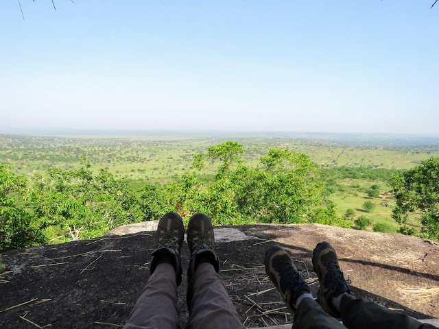 View from Top of the Rock at Rwakobo Rock lodge in Uganda
