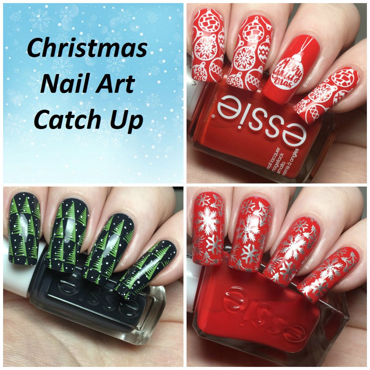 A Certain Becca Nails: Christmas Nail Art Catch Up