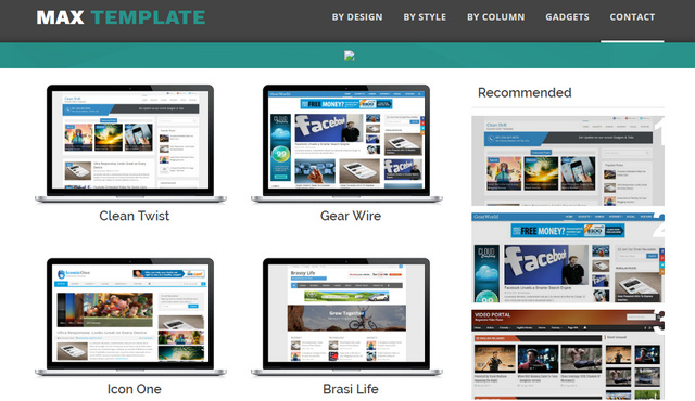 Max Template Responsive Blogger Templates