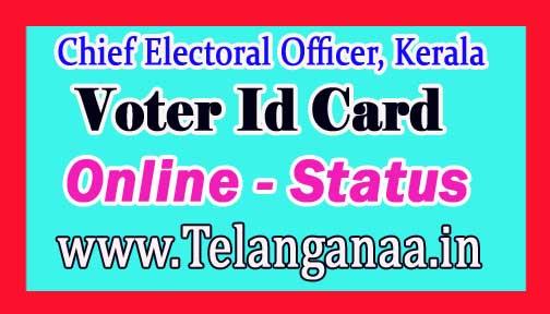 Voter Id Online Status in kerala New Voter Card Status