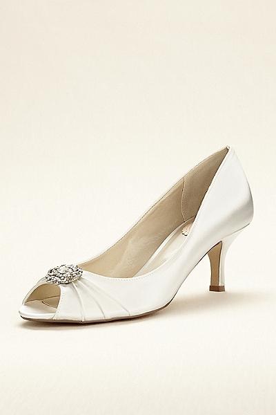 zapatos de novia para vestido de encaje