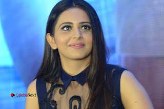 Actress Rakul Preet Singh Stills in Beautiful Blue Long Dress at Dhruva Salute to Audience Event  0137.JPG