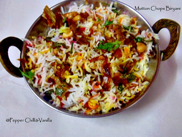 mutton chaps biryani recipe ,homemade mutton biryani recipe