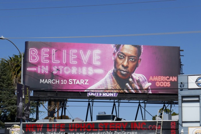 Believe in stories American Gods season 2 billboard