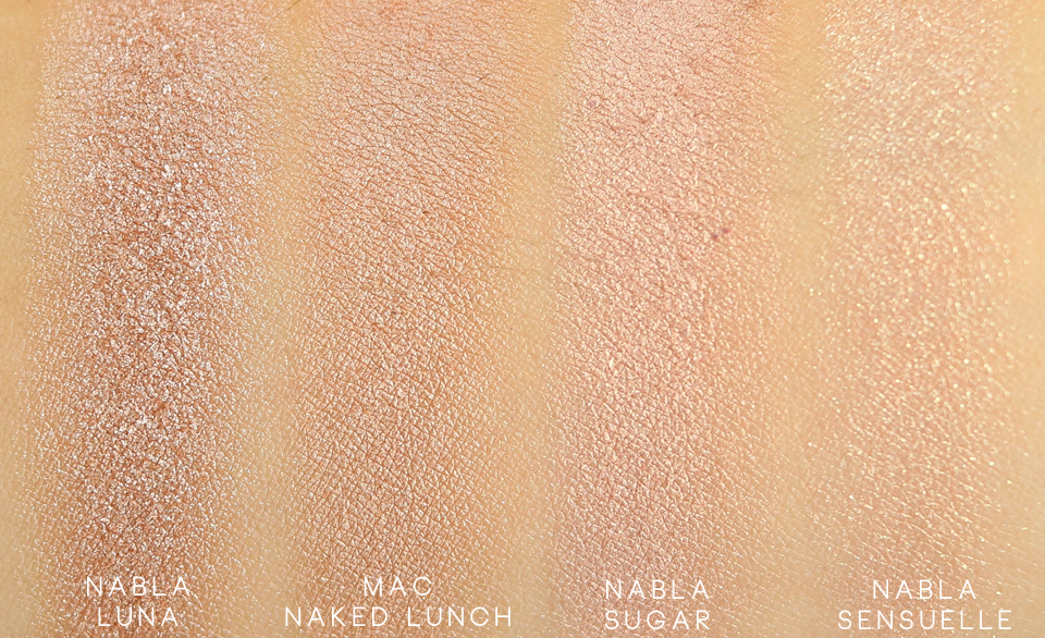 Nabla Goldust Luna swatch