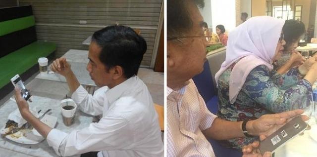 Hebat Ponsel Jokowi atau Ponsel Jusuf Kalla ?