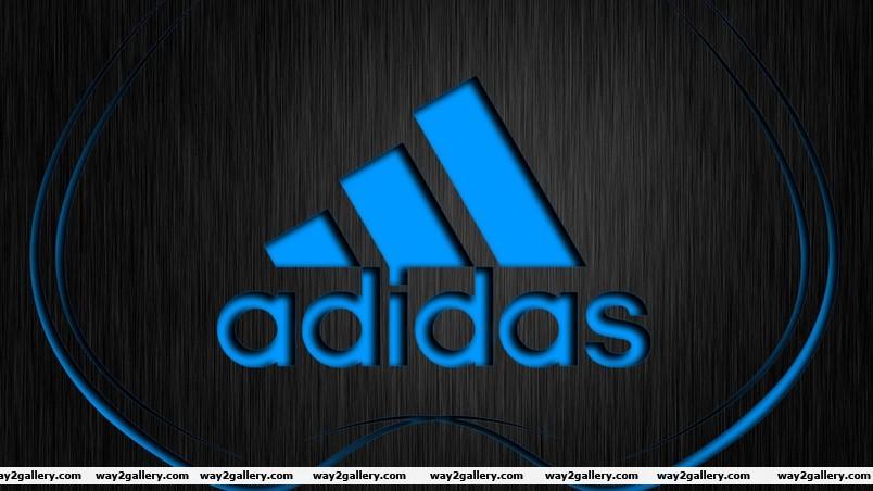 Adidas blue logo wallpaper