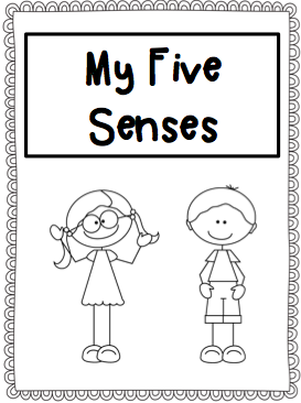My Five Senses Coloring Pages